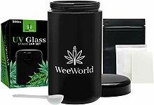 Weeworld 500 ml UV-Glas Vorratsdosen Set –