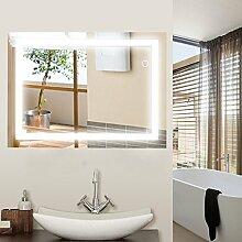 Wefun Badspiegel mit Beleuchtung,Badezimmerspiegel