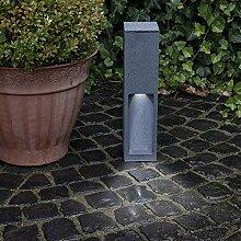 Wegeleuchte Aluminium grau 45 cm | einseitiger