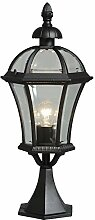 Wegeleuchte Gartenleuchte schwarz Glas rustikal lackiertes Aluminium 1 - flammig exkl. E27 1x100W 230V