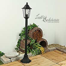Wegeleuchte in schwarz Laternen Form Aussenleuchte Stehlampe E27 230V Beleuchtung für Hof und Garten