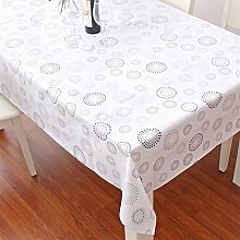 WegwerfPVCTischdecken/wasserdichte Tapete/Ölbeweis Kunststoff Tischdecke/Tischsets/Tischdecke decke/EVATischdecke decke-E 138x190cm(54x75inch)