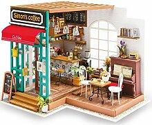 WEI FEI DIY Spielzeug Haus Handarbeit Cafe Modell