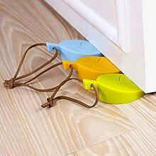 WEIAIXX Kreative Blatt Silikon Tür Türstopper