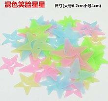 WEIAIXX Smiley Sterne Leuchtende Wandsticker