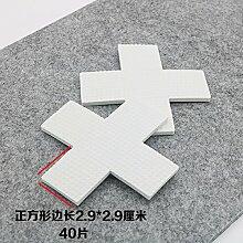 WEIAIXX Verdickung Stuhl Fußauflage Stumm Anti-Rutsch Stuhl Tisch Hocker Sofa Couchtisch Schrank Parkett Holzboden Schutz Fußmatte Weißes Quadrat 2.9 * 2,9 Cm Scheiben