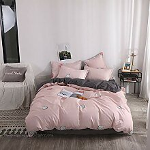 Weich Bettwäsche Bettbezug Set 4-Tlg Mit