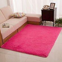 Weich und bequem tragen rutschfeste Teppich Wohnzimmer mit Schlafzimmer Teppich Sofabett lila 120 * 160cm super weich waschbar