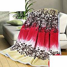 weiche Decke/ Leoparden-Print Decke/ Winter-Teppich/Couch Decke/ Dicke warme Decke/NAP-Decke-A 200x230cm(79x91inch)