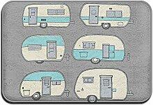 Weichem rutschfestem Camper Doodles Wohnmobil-Van
