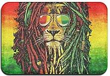 Weichem rutschfestem Rasta Lion Cool Badteppich