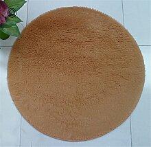Weichen, flauschigen Baumwollsamt rutschfeste Matten WC Schlafzimmer Küche Wohnzimmer Wolldecke Yogamatte Khaki 800x800 mm