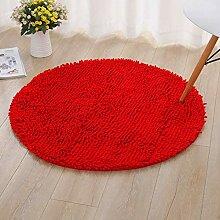 Weicher flauschiger Teppich für das Bett