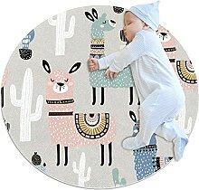 Weicher runder Teppich 100x100cm/39.4x39.4IN