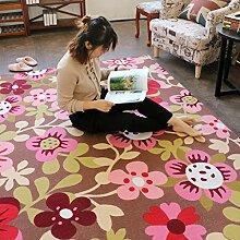 Weicher Teppich Amerikanische Teppichmatte, Schlafzimmer Wohnzimmer Türmatte / Pad / Türmatte ( Farbe : B , größe : 100*120cm )