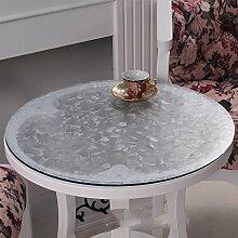 Weiches Glas runder Tisch, PVC runde Tischdecke wasserdicht, transparente Tischmatte runde Tischdecke, Tischdecke mattierte Kristallplatte , #8 , diameter 70cm
