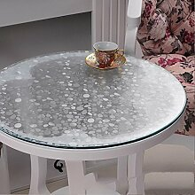 Weiches Glas runder Tisch, PVC runde Tischdecke wasserdicht, transparente Tischmatte runde Tischdecke, Tischdecke mattierte Kristallplatte , #3 , diameter 120cm