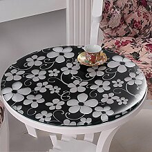 Weiches Glas runder Tisch, PVC runde Tischdecke wasserdicht, transparente Tischmatte runde Tischdecke, Tischdecke mattierte Kristallplatte , #4 , diameter 70cm