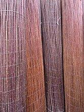 Weidenmatte Premium Weidematte 140 x 500 cm Sichtschutzmatte Weidenzaun Gartenzaun Windschutzmatte