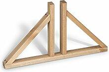 Weidenprofi Standfuß aus Holz für Paravent und