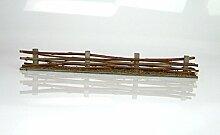 weidenzaun, Flechtzaun mit geschnittene Moos. 4cm