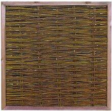 Weidenzaun günstig, London, eco Modell, 180 x 180cm - Sichtschutzzäune Sichtschutzmatten Sichtschutzwände