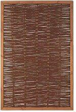 Weidenzaun Weidengeflecht Sichtschutz Sichtblende mit Holzrahmen Cordoba (120 x 180 cm)