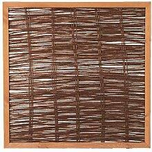 Weidenzaun Weidengeflecht Sichtschutz Sichtblende mit Holzrahmen Cordoba (120 x 120 cm)