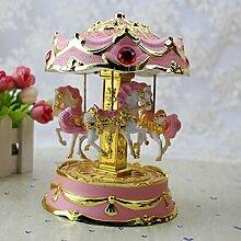 WeieW Luxus-Spieldose Kreatives Karussell Spieluhr