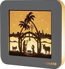 Weigla LED-Bild Square - Standbild Christi Geburt,