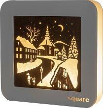 Weigla LED-Bild Square - Standbild Seiffen, (1