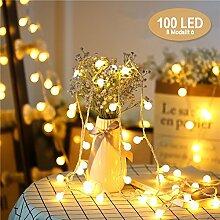 Weihnacht Lichterketten, Chenci 100er LED