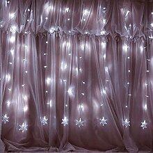 Weihnachten 100er LED Vorhang Lichterkette