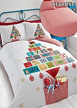 Weihnachten Advent Kalender King Quilt Bettbezug &