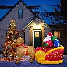 Weihnachten Aufblasbarer Weihnachtsmann Auf