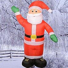 Weihnachten aufblasbarer Weihnachtsmann Licht Yard