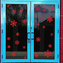 Weihnachten Aufkleber, Schneeflocke Fenster Winter