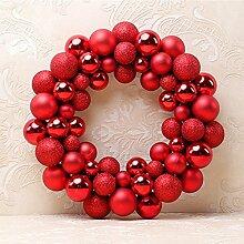 Weihnachten bunte Kugeln Kranz Tür Wand Ornament