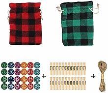 Weihnachten Countdown Kalender Taschen,