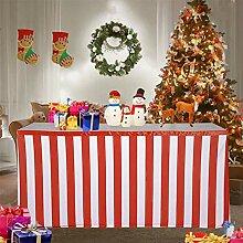 Weihnachten Deko, Stilvolle Red & White Streifen