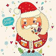 Weihnachten Diamant Malerei Sankt Claus Karikatur