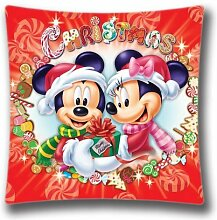 Weihnachten Disney Weihnachten Kissen, 45,7x 45,7cm, Urlaub Kissenbezüge, dekoratives Kissen, Weihnachten Dekoration