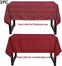 Weihnachten doppelseitige Plaid Tischdecke Druck