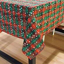 Weihnachten doppelseitige Tischdecke rot grün