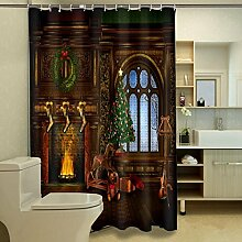 Weihnachten Duschvorhang 3D-Foto Weihnachtsbaum