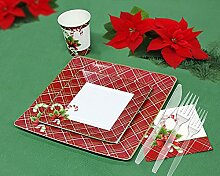 Weihnachten Einweg Geschirr und Urlaub Party