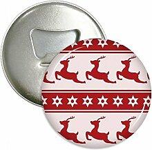 Weihnachten Elk Star Festival Rot Rund