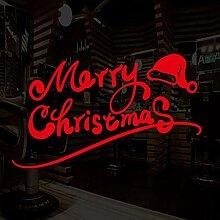 Weihnachten entfernbare Wandaufkleber Fenster
