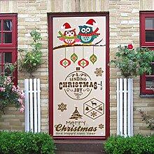 Weihnachten Eule Filiale Tür Aufkleber Für