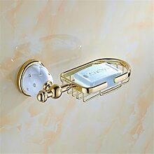 weihnachten Europäische goldene Diamant accessoires badezimmer set Edelstahl Soap Box Einzel- und Doppelzimmer, Stange, Soap Box